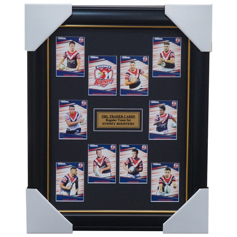 2020 NRL Traders Cards Sydney Roosters Team Set Framed Tedesco Mitchell Tupou - 4047