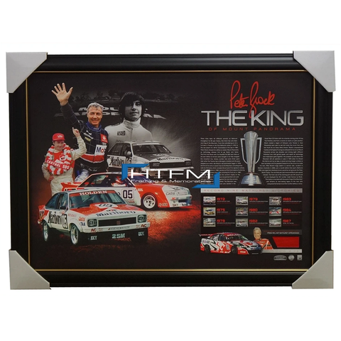 THE KING PETER BROCK SIGNED FRAMED BATHURST TRIBUTE LITHOGRAPH OFFICIAL + COA - 2043