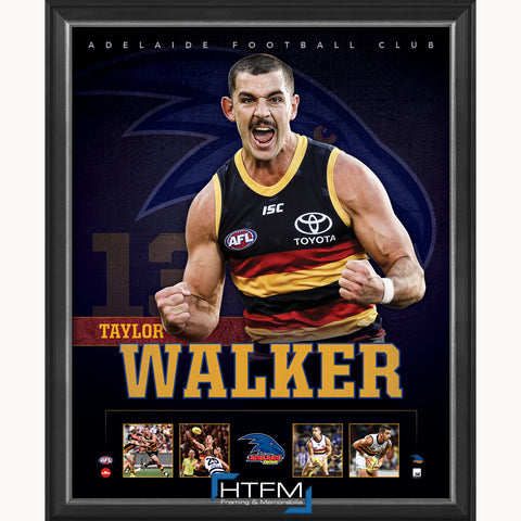 Taylor Walker Adelaide F.C. Official Licensed AFL Print Framed NEW - 3691