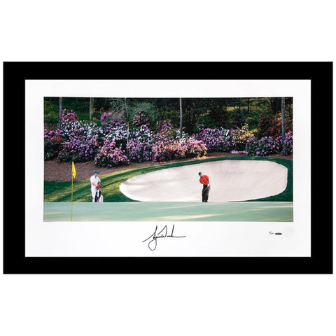 "Tiger Woods Autographed Masters ""Azalea No. 13"" Panoramic Print Framed - 3814"
