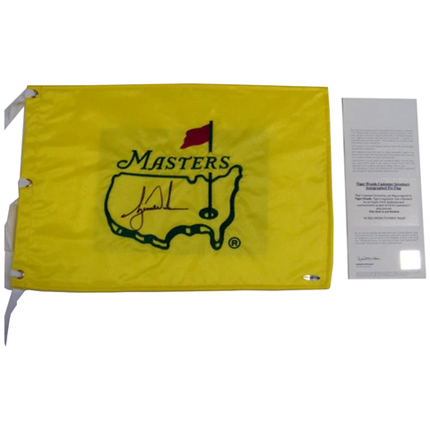 Tiger Woods Us Masters Uda Flag Signed - 3868