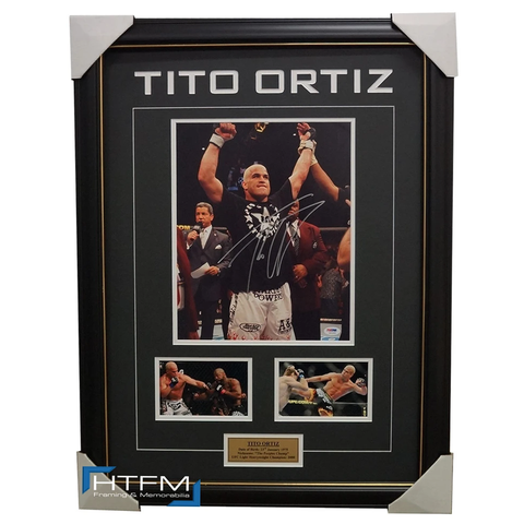 Tito Ortiz Signed UFC Photo Collage Framed with Photos PSA/DNA - RARE 1 ONLY - 1848
