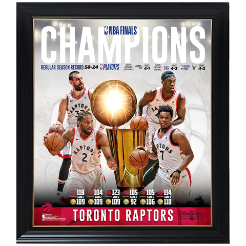 Toronto Raptors 2019 NBA Finals Champions Team Collage Official NBA Print Framed - 4359