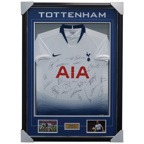Tottenham Hotspurs F.C. 2018/19 Team Signed Jersey Champions League Finalists Jersey Framed - 3703