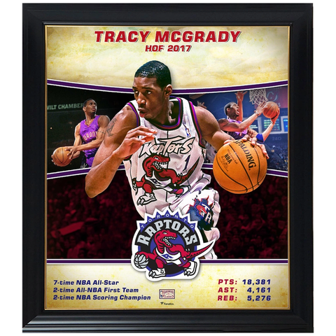 Tracy McGrady Toronto Raptors Player Collage Official NBA Print Framed - 4362