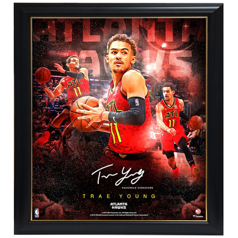 Trae Young Atlanta Hawks Stars of the Game Collage Facsimile Signed Official NBA Print Framed - 4343