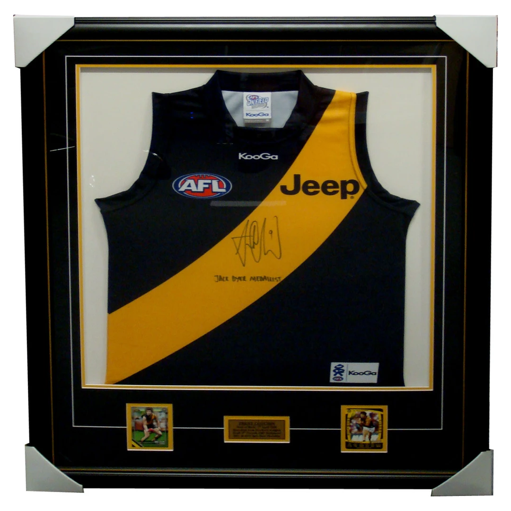 Trent Cotchin Richmond AFL Signed Jumper Framed - 4115
