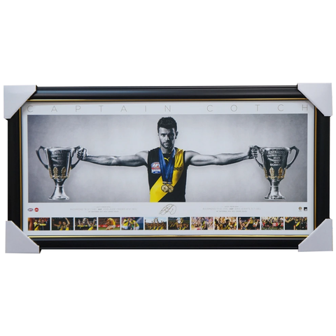 Trent Cotchin Signed Richmond Mini Wings Official AFL Print Framed 2017 & 2019 Premiers - 3896