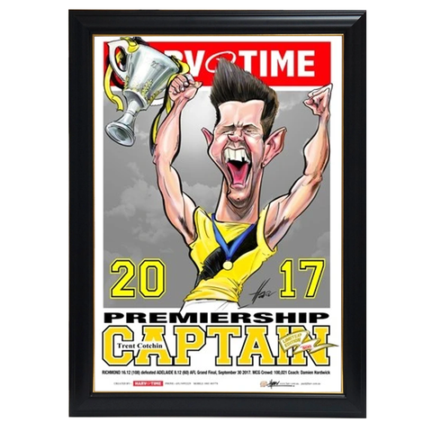 Trent Cotchin, 2017 Premiership Captain, Harv Time Print Framed - 4250
