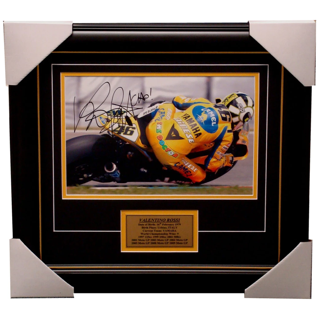 Valentino Rossi Signed Photo Framed World Champion - 3940
