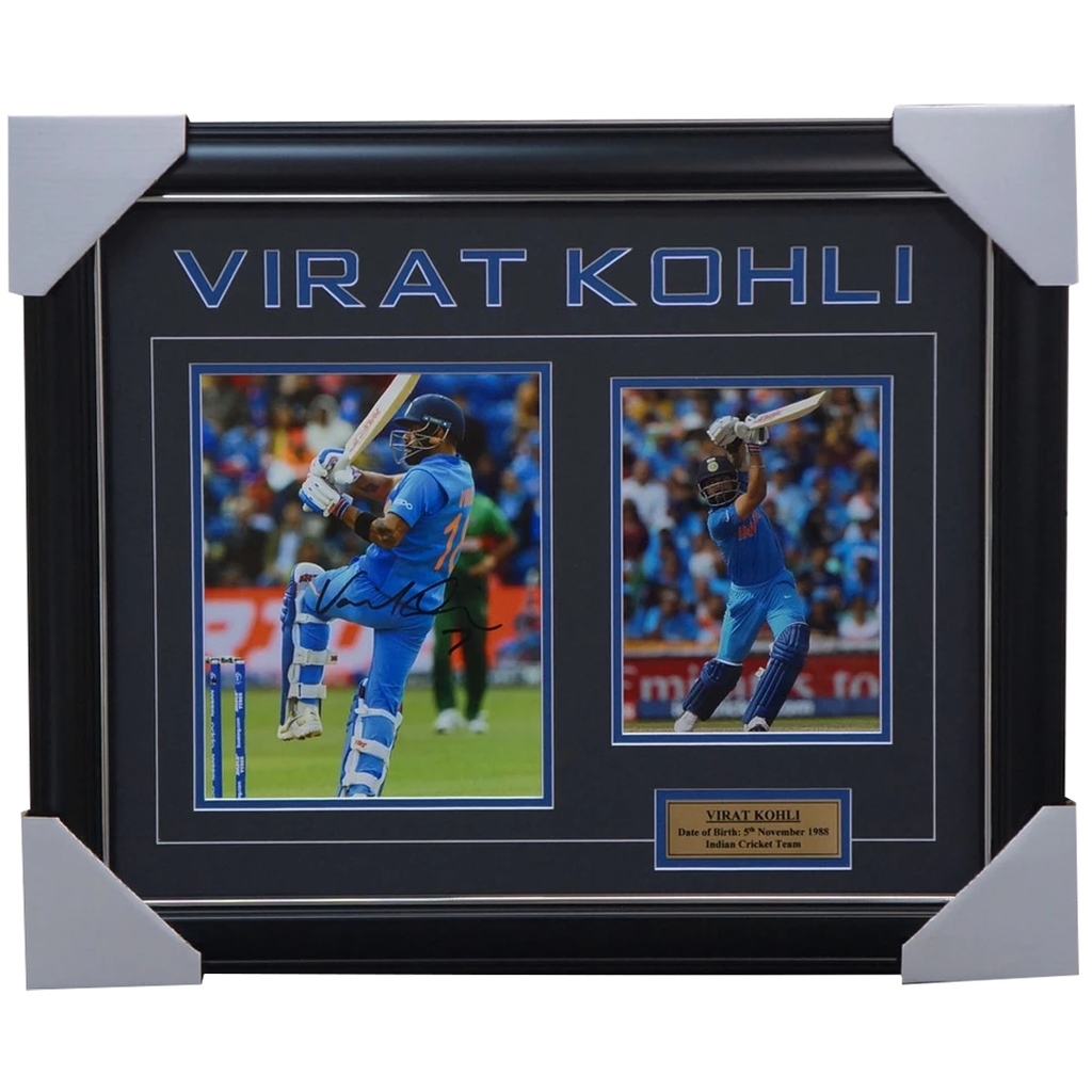 Virat Kohli Signed India Cricket Photo Collage Framed - 3719