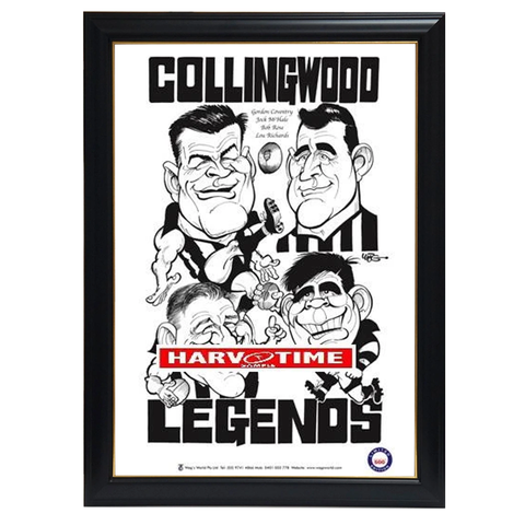 Weg Collingwood Legends Print Framed - 4280