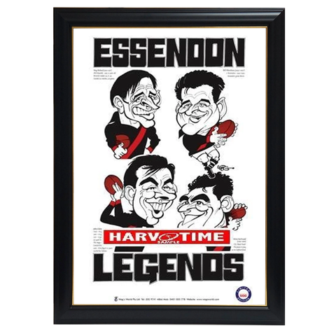WEG Essendon Legends Print Framed - 4286