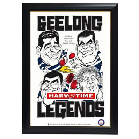Weg Geelong Legends Print Framed - 4285