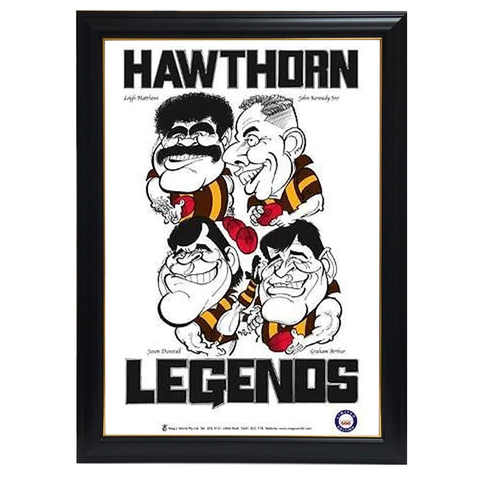 WEG Hawthorn Legends Print Framed - 4284