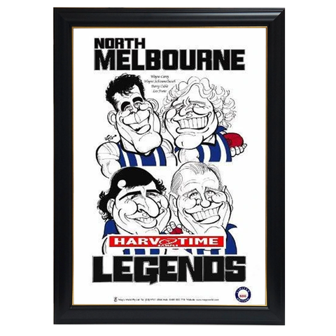 Weg North Melbourne Legends Print Framed - 4281