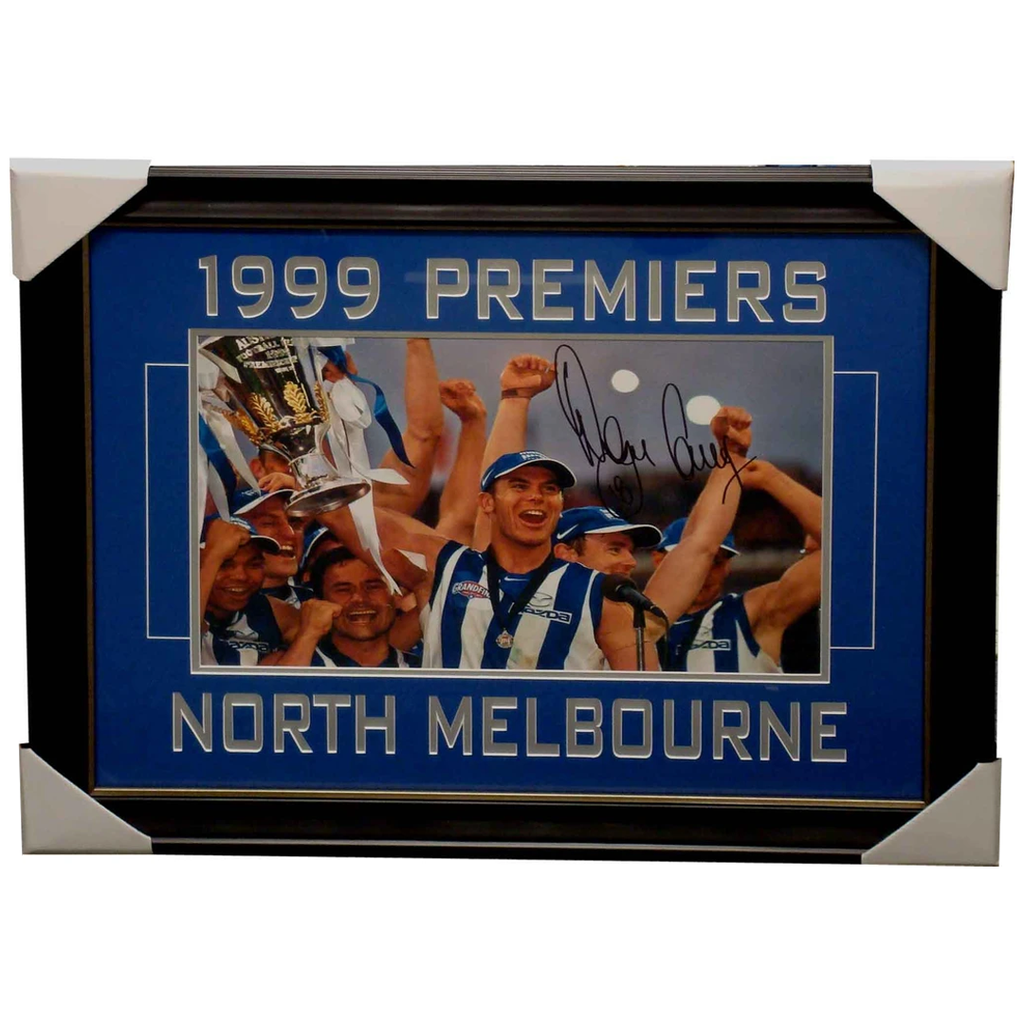Wayne Carey Kangaroos 1999 Premiers Signed Photo Framed - 4001