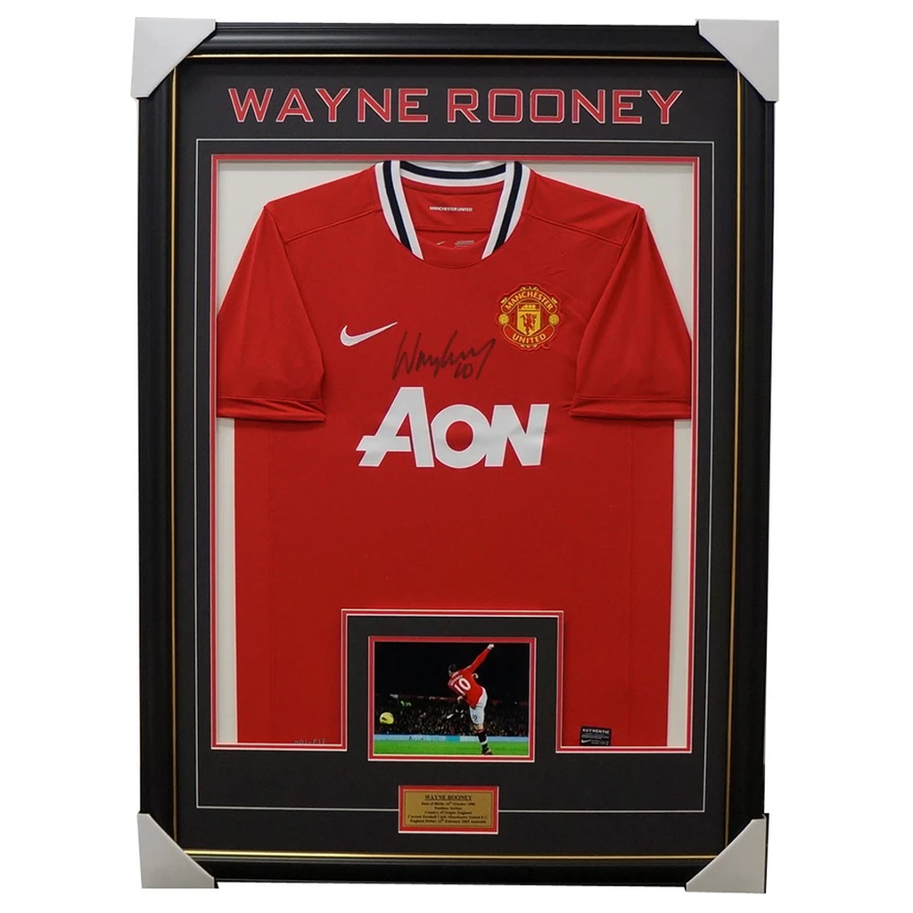 Wayne Rooney Manchester United Signed Jersey Framed - 3118