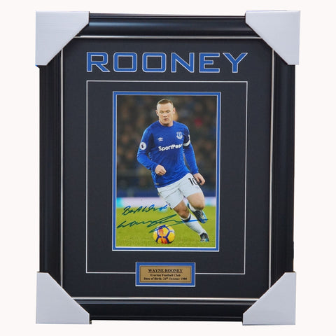 Wayne Rooney Signed EPL Everton Photo Framed - 3849