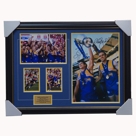 West Coast Eagles 2006 Premiers Dual Signed Photo Frame Ben Cousins & Chris Judd - 4368