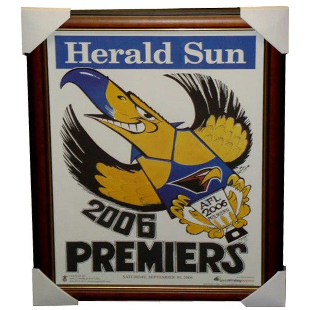 West Coast Eagles 2006 Premiership Original Weg Poster Framed - 2752