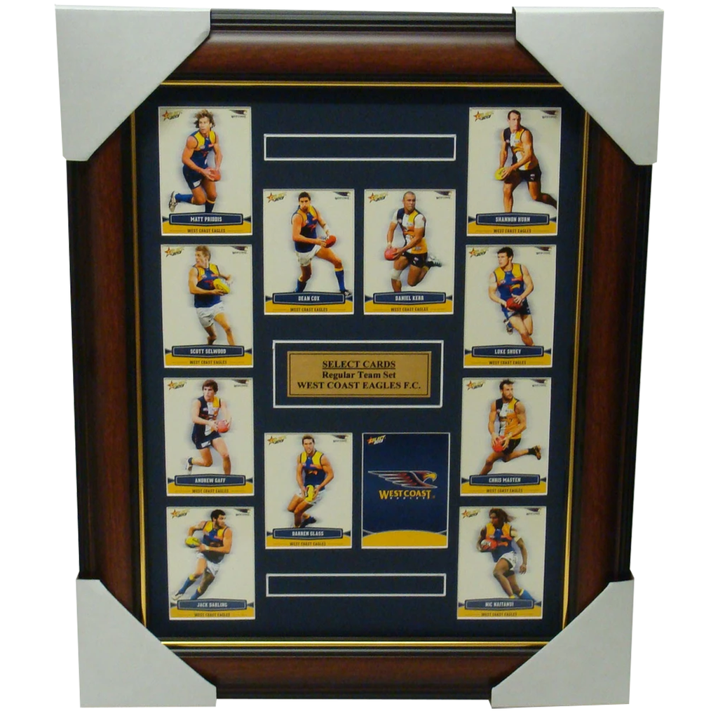 West Coast Eagles 2013 Select Card Set Framed Inc Nic Naitanui - 1197