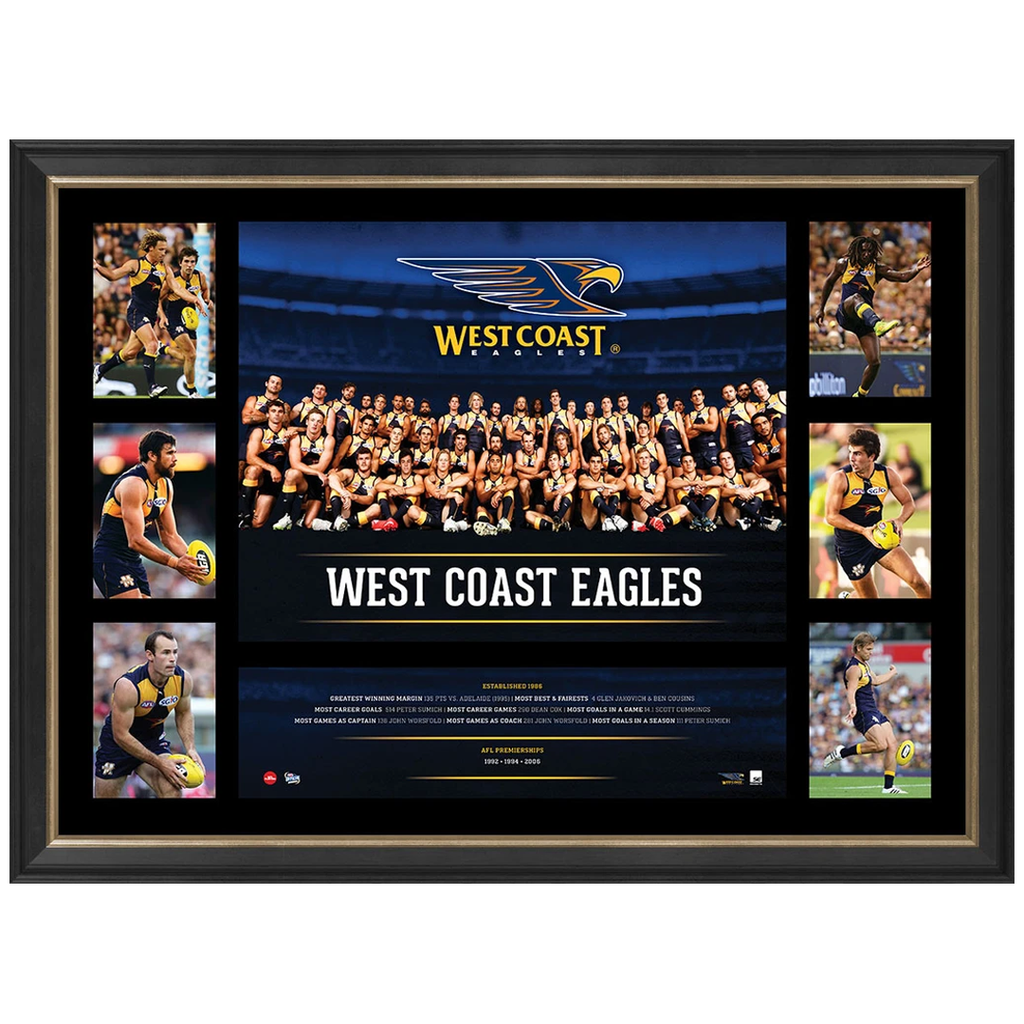 West Coast Eagles 2016 Official Afl Team Premiergraph Super Frame Josh Kennedy - 2860