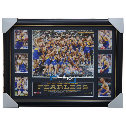 West Coast Eagles 2018 Premiers Deluxe Tribute Official AFL Print Frame Shuey - 3496