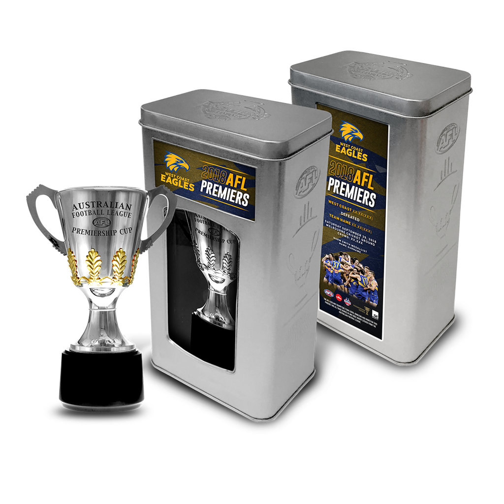 West Coast Eagles 2018 Premiership Cup Official Afl in Collectors Tin - in Stock - 3499