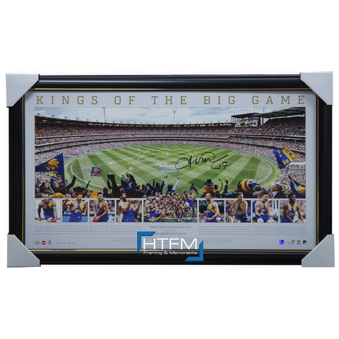 West Coast Eagles 2018 Premiership Signed Josh Kennedy Official AFL Panoramic Print Framed - 3495