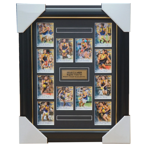 West Coast Eagles 2018 Select Card Team Set Framed Nic Naitanui Darling Josh Kennedy - 3354