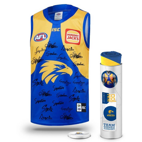 West Coast Football Club 2020 AFL Official Team Signed Guernsey - 4144