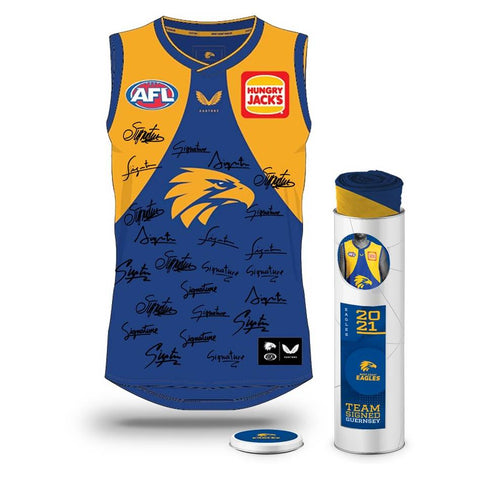 West Coast Eagles Football Club 2021 AFL Official Team Signed Guernsey - 4708