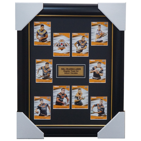 2020 NRL Traders Cards West Tigers Team Set Framed Thompson Marshall Chee-Kam - 4051