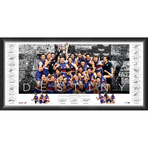 Western Bulldogs 2016 Premiers Team Signed Official AFL Icon Series Print Framed - 4397
