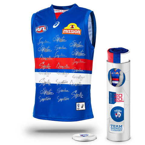 Western Bulldogs Football Club 2020 AFL Official Team Signed Guernsey - 4146