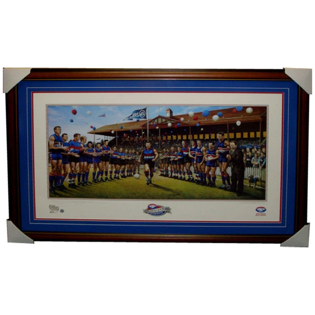 Western Bulldogs L/E Team of the Century Jamie Cooper Print Framed - 3852