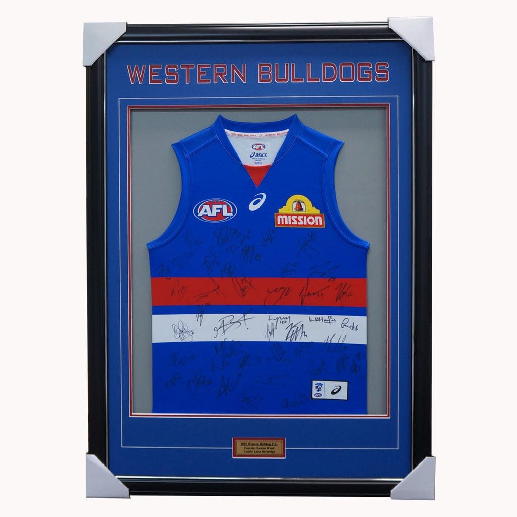 Western Bulldogs 2019 Signed Official AFL Team Jumper Framed Bontempelli + COA - 3907
