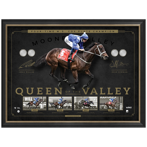Winx 2018 Cox Plate Champion Queen of the Valley Signed Official Print Framed Bowman & Waller - 3554 Limited Stock Remaining