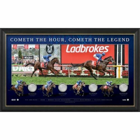 Winx 4 x Cox Plate Champion Limited Edition Official Print Framed - 4323