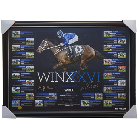 Winx Dual Signed 26 Wins Road to Record Official Lithograph Framed - 3960