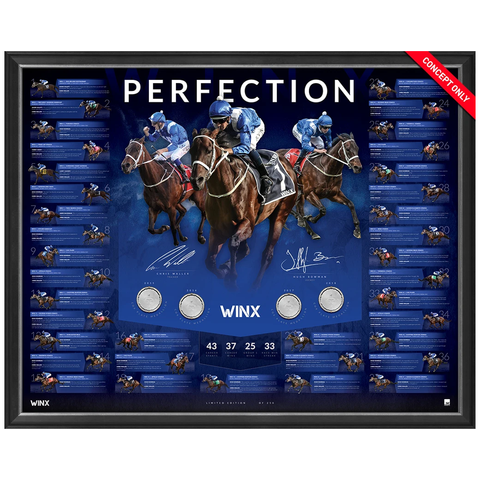 Winx Perfection Dual Signed Limited Edition Official Retirement Print Framed Waller & Bowman - 3660 Last One
