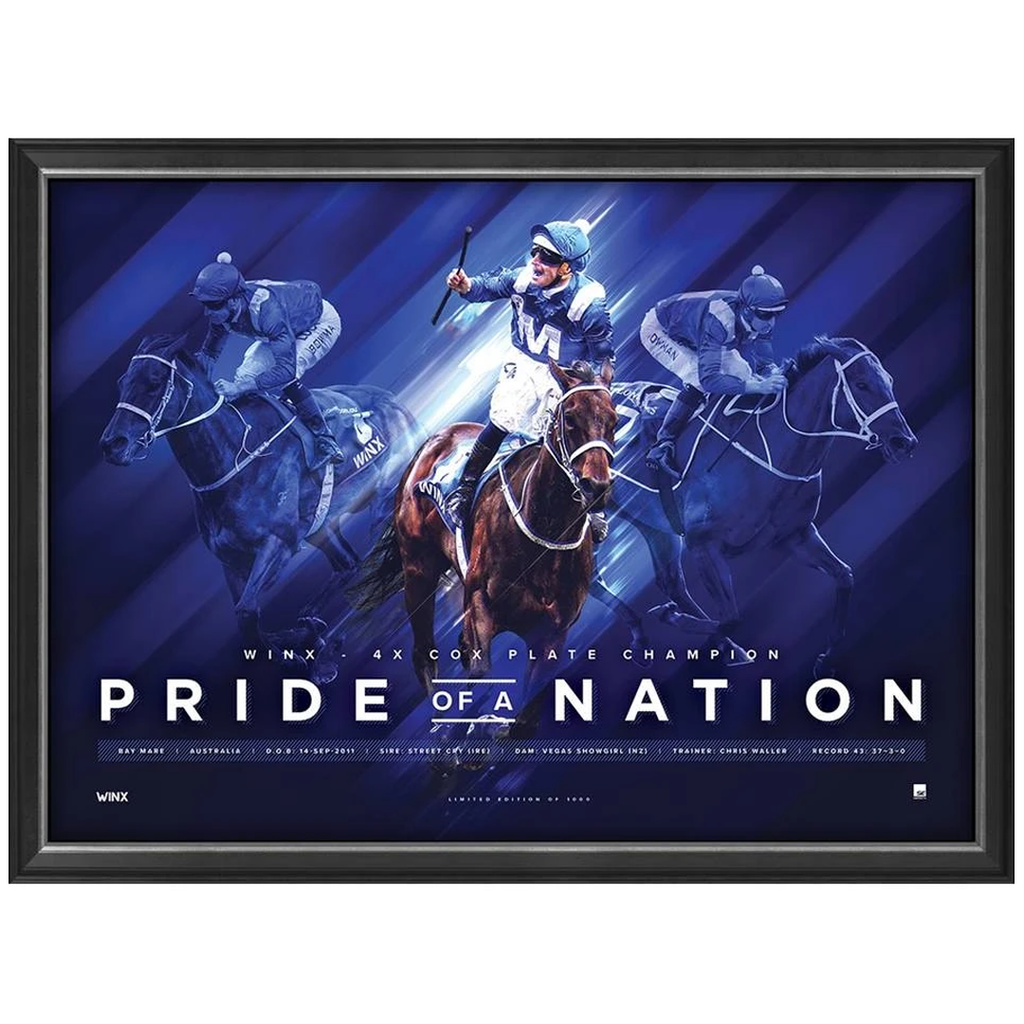 Winx Pride of the Nation Limited Edition Official Retirement Print Framed - 3663