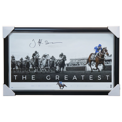 "Winx Signed Hugh Bowman ""the Greatest"" Official Print Framed + Coa 26 Straight - 3569 4 Units Left"