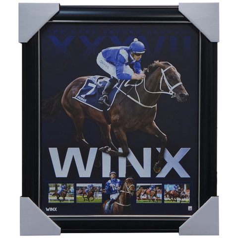 Winx The Mare Beyond Compare Limited Edition Official Retirement Print Framed - 3664