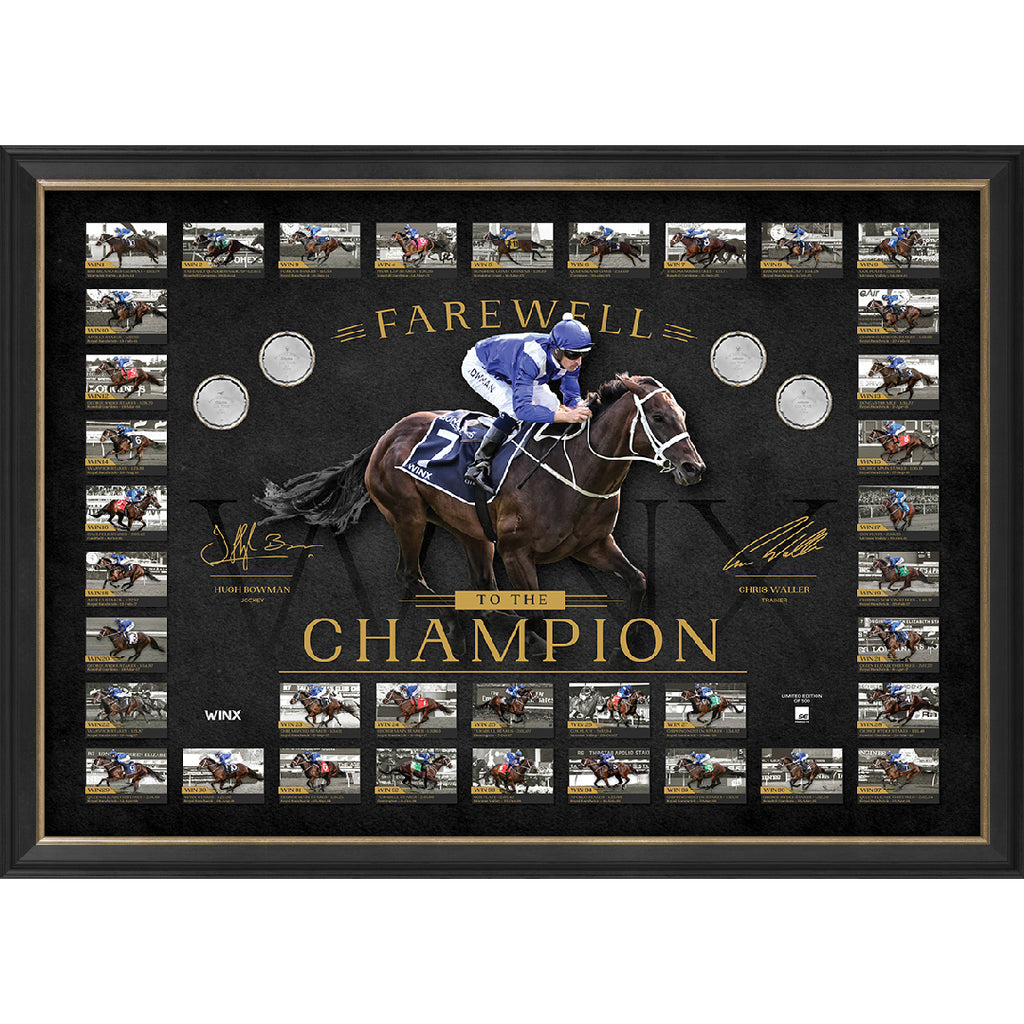 "Winx ""Farewell to the Champion"" Limited Edition Signed Official Retirement Print Framed 37 Race Wins - 3665"