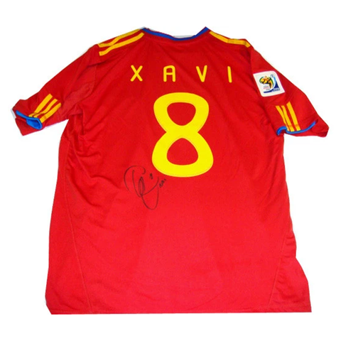 Xavi Spain 2010 World Cup Champions Signed Jersey - 2783