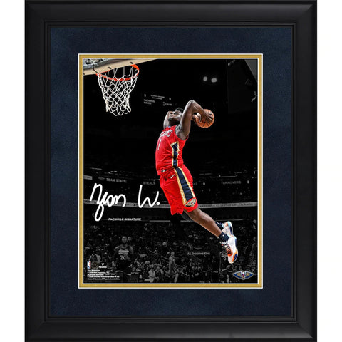 "Zion Williamson New Orleans Pelicans Framed 11"" x 14"" Spotlight Photograph - Facsimile Signature Fanatics Official - 4619"
