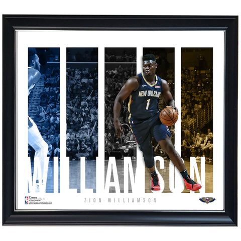 Zion Williamson New Orleans Pelicans NBA Photo Collage Official NBA Print Framed - 4472