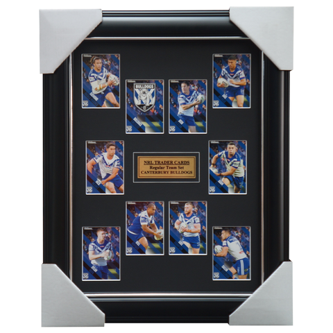 2021 NRL Traders Cards Canterbury Bulldogs Team Set Framed - 4649